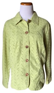 Coldwater Creek Button Down Shirt lime