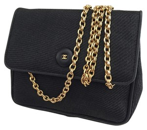Chanel Vintage Canvas Leather Cross Body Bag