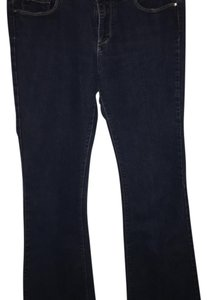 Paige Denim Boot Cut Pants dark denim