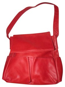 Bottega Veneta Mint Condition Has Dust Perfect Red Multiple Pockets Roomy Everyday Satchel in textured true red' leather