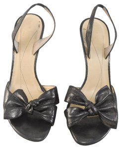 Kate Spade Bow Prom Wedding Black Gunmetal Pumps