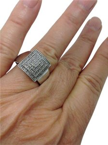 Other size 10.5, sterling silver, diamond, statement, fashion ring
