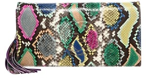Gucci Python Multi-Color Clutch