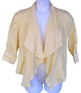 Chico's Open Front Dressy Shimmery Machine Washable Yellow Blazer