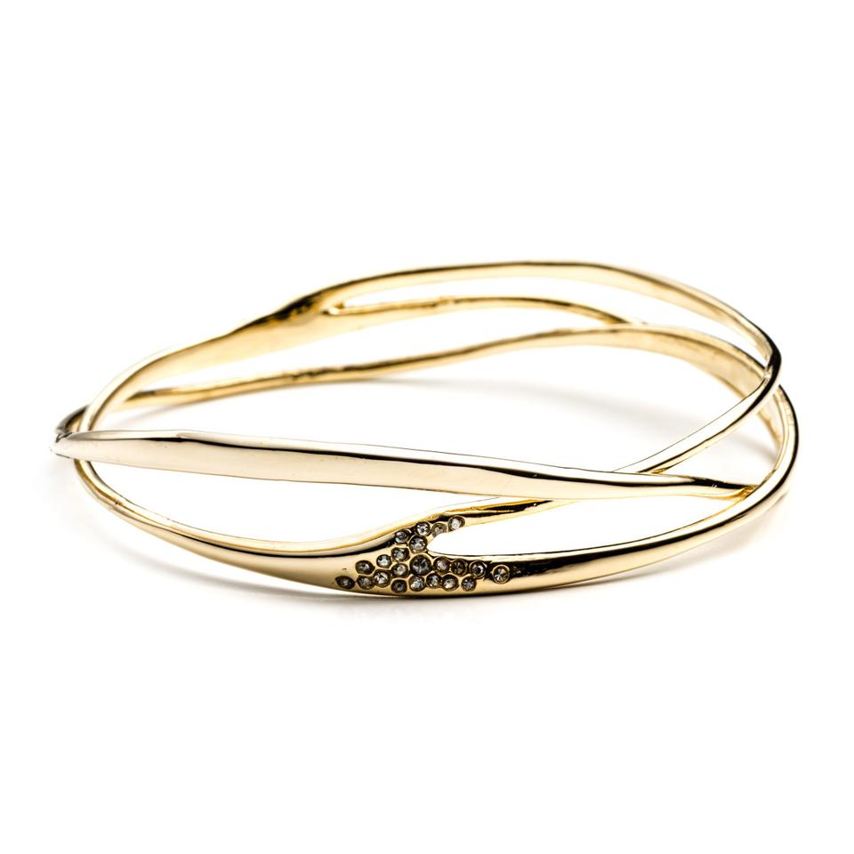 Alexis Bittar Rose Gold Interlaced Bangle