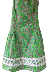Lilly Pulitzer short dress Strapless Embroidered Designer on Tradesy