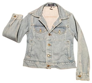 American Apparel Medium stone wash indigo Womens Jean Jacket