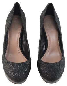 Vince Camuto Platform Prom Evening Black / Silver Pumps