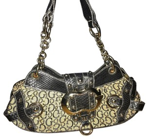 Guess Satchel in Beige Black