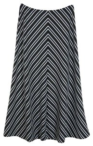 Coldwater Creek Maxi Skirt Black White