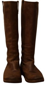 Frye Celia Leather Brown Boots