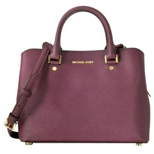 Michael Kors Satchel in plum