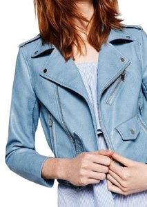 Zara Faux Leather Moto Crop Jacket Motorcycle Jacket