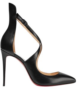 Christian Louboutin Marlenarock 100 Red Soles Classic Cocktail Black Pumps