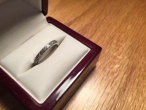 Blue Nile Women's Platinum Pave Diamond Wedding Band For Sale By Owner Size 4.5
