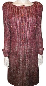 Chanel Tweed Fantasy Jewel Red Dress