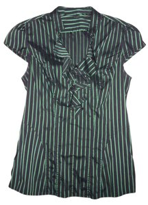 Express Top Black and Emerald Green
