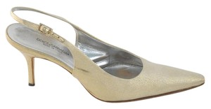 Dolce&Gabbana Champagne Wedding Slingback Gold Pumps