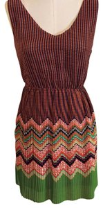 Double Zero short dress Multi-color on Tradesy