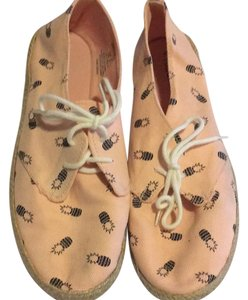 H&M Pink, white, brown Flats