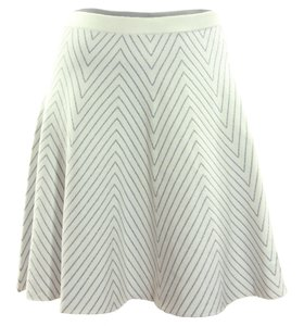 Grace Elements Skirt Ivory & Silver