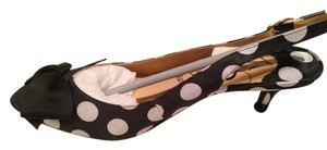 J. Renee Black with white polka dots Pumps