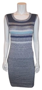 Chanel short dress Blue Striped Knit on Tradesy