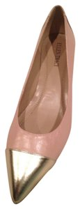 Ellen Tracy Pink with Silver tip Wedges