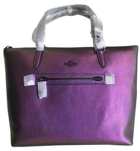 Coach Leather Pebble Leather Iridescent Tote in Hologram