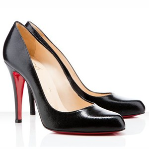 Christian Louboutin Decolette Stiletto Leather Black Pumps