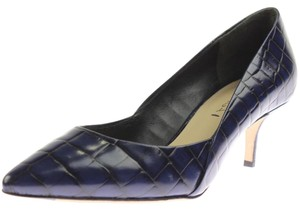 Via Spiga Navy Crocodile Pumps