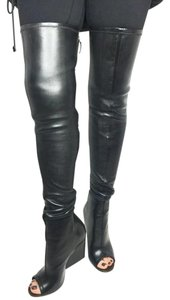 Givenchy Thigh High Leather Black Boots