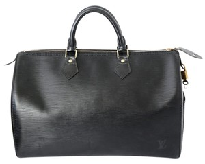 Louis Vuitton Vintage Epi Leather Satchel in Black