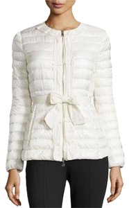 Moncler Parka Latouche Bow Belt Cream Jacket
