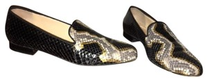 Christian Louboutin Black and Gold Flats