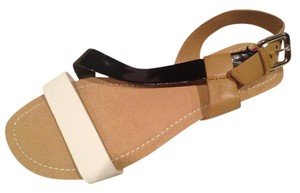 Kenneth Cole Black/White/Tan Sandals