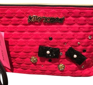 Betsey Johnson Wristlet in red