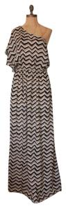 MULTI Maxi Dress by Willow & Clay One Shoulder Chevron Maxi