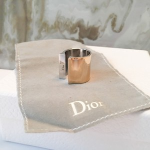 Dior $650 Runway Silver & Gold Open Face Ring