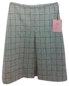 Tocca Grey Wool Skirt