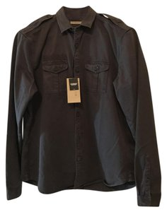 Burberry Brit Button Down Shirt Dark Grey