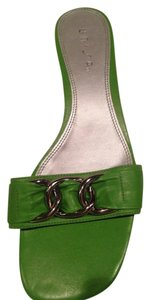 Unisa green with silver buckle Sandals