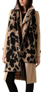 Burberry Burberry Beige Animal-print Wool & Cashmere Scarf 78.75