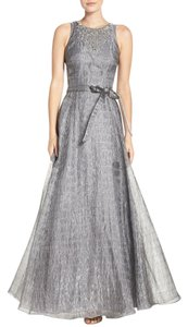 Aidan Mattox Full Length Sleeveless Beaded Metallic Dress