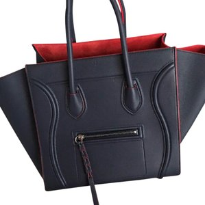 Cline Tote in navy, red