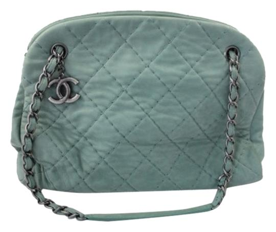 Preload https://item1.tradesy.com/images/chanel-coated-quilted-iridescent-aqua-green-leather-shoulder-bag-2058760-0-0.jpg?width=440&height=440