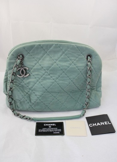 Chanel Quilted Coated Leather Shoulder Bag