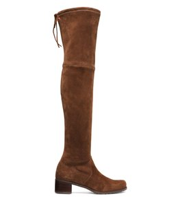 Stuart Weitzman Over The Knee Stretch Suede Pull On SUEDE WALNUT Boots