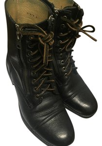 Frye Leather Zip Up Black Boots
