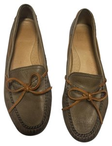 Frye Leather Light gray Flats